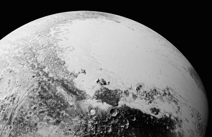 This image courtesy of NASA, Johns Hopkins University Applied Physics Laboratory and Southwest Research Institute, shows the surface of Pluto on July 14, 2015 (AFP Photo/)