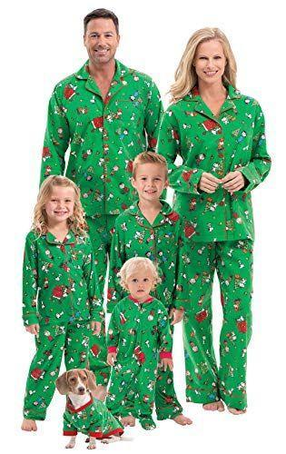 """<p><strong>PajamaGram</strong></p><p>amazon.com</p><p><strong>$42.99</strong></p><p><a href=""""https://www.amazon.com/dp/B00Q5PSL3W?tag=syn-yahoo-20&ascsubtag=%5Bartid%7C2141.g.37664571%5Bsrc%7Cyahoo-us"""" rel=""""nofollow noopener"""" target=""""_blank"""" data-ylk=""""slk:Shop Now"""" class=""""link rapid-noclick-resp"""">Shop Now</a></p><p>Because what better opportunity is there to wear matching clothes than Christmas? Grab a pair of comfies for the entire family in one convenient bundle. This company offers a variety of prints but this one—Charlie Brown Christmas—is a favorite. And in case you were wondering,<strong> there are pet sizes</strong>, too.</p>"""