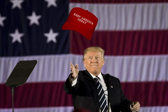 Trump's already got his eyes on 2020. (Photo illustration by Yahoo News; photo by Drew Angerer/Getty Images)