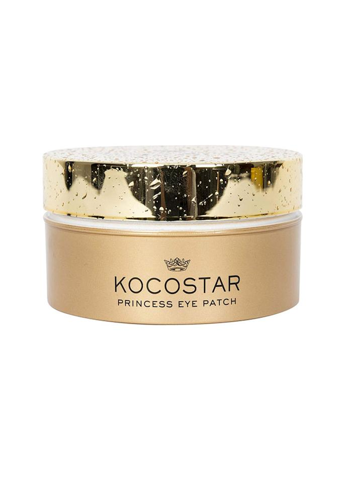 """These hydrogel eye patches are infused with platinum silver, niacinamide, and caffeine to help combat inflammation and puffiness. Alternatively, you can apply them to smile lines for smoothing effect.  Kocostar silver eye patches, $34 at <a href=""""https://www.anthropologie.com/shop/kocostar-princess-eye-patch-set?adpos=1o1&adtype=pla&cm_mmc=Google-_-US%20-%20Shopping%20-%20Beauty-_-Body%20Care-_-46137766&color=007&countryCode=US&creative=191891224743&device=c&gclid=CjwKCAjw9sreBRBAEiwARroYm9qDevDO28_DpoMvtRduKQ54cDaWzRgPqWxGxOsvFhcqZA2ObDDxFxoC-mIQAvD_BwE&inventoryCountry=US&matchtype=&mrkgadid=3202851742&mrkgcl=694&network=g&product_id=46137766&size=ALL&utm_campaign=US%20-%20Shopping%20-%20Beauty&utm_content=46137766&utm_medium=paid_search&utm_source=Google&utm_term=Body%20Care"""" target=""""_blank"""">Anthropologie</a>"""