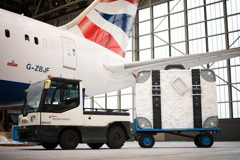 British Airways is celebrating the announcement with a specially commissioned sculpture: British Airways