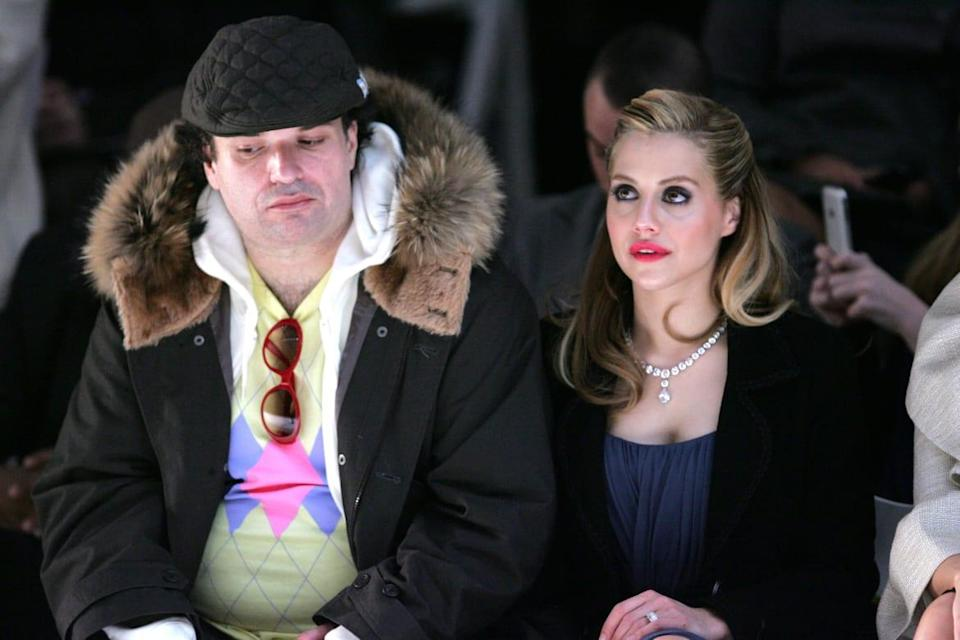"""<div class=""""inline-image__caption""""><p>Actress Brittany Murphy and husband Simon Monjack attend the Monique Lhuillier Fall 2008 fashion show during Mercedes-Benz Fashion Week at The Promenade at Bryant Park on February 5, 2008, in New York City. </p></div> <div class=""""inline-image__credit"""">Bryan Bedder/Getty</div>"""