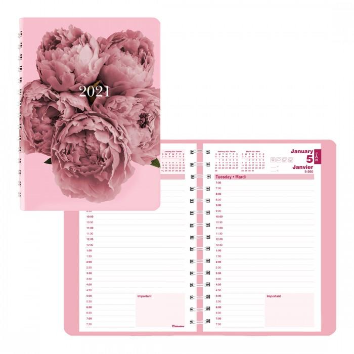 Blueline 2021 Pink Ribbon Daily Planner. Image via Staples.