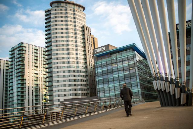 The BBC now employs thousands of people at the MediaCityUK hub in Manchester. (Anthony Devlin/Getty Images)
