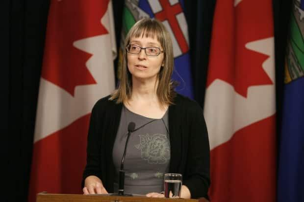 Dr. Deena Hinshaw updated Albertans on the province's response to COVID-19 on Tuesday.