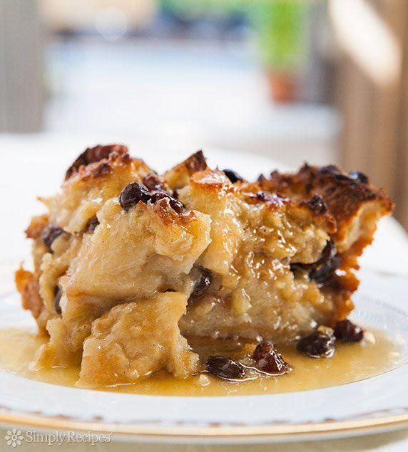 "<p>Bourbon sauce is a game changer when it comes to dressing up bread pudding.</p><p>Get the recipe from <a href=""https://www.simplyrecipes.com/recipes/bread_pudding/"" rel=""nofollow noopener"" target=""_blank"" data-ylk=""slk:Simply Recipes"" class=""link rapid-noclick-resp"">Simply Recipes</a>.</p>"