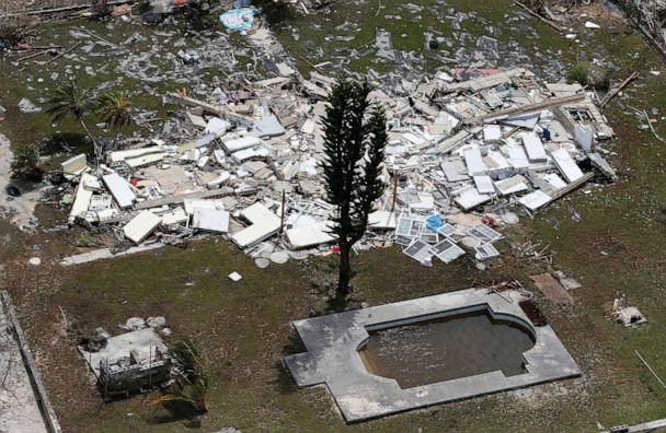 PHOTO: A flattened building scattered near a pool after hurricane Dorian hit the Grand Bahama Island in the Bahamas, Sept. 4, 2019. (Joe Skipper/Reuters)