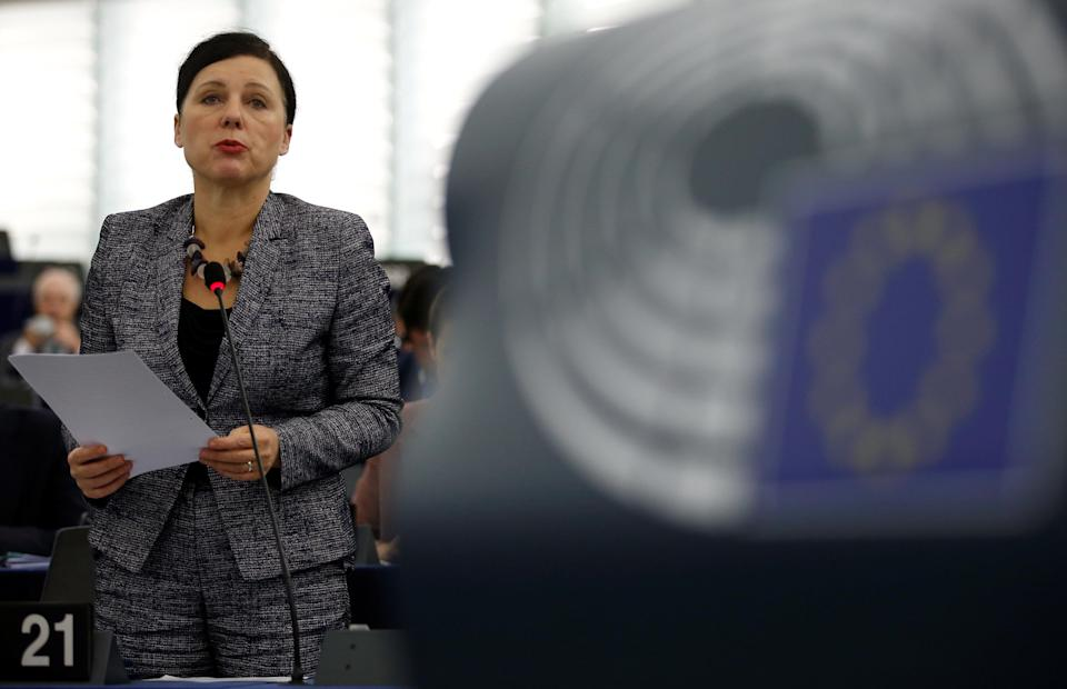 EU justice commissioner Vera Jourova told MEPs that Facebook was cleaning up its act (Reuters)