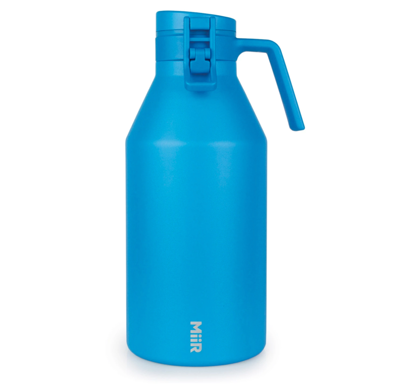 MiiR's 64-ounce growler in signature blue colorway.