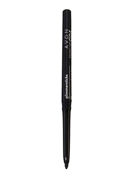 "MAKEUP-<br /><b>Eye Liner</b> <br> <i>Avon Glimmersticks Eye Liner in Blackest Black</i> <br> The self-sharpening pencil is ideal for a tidy lineâ€""or for cat-eye lovers who can't deal with liquid liner."