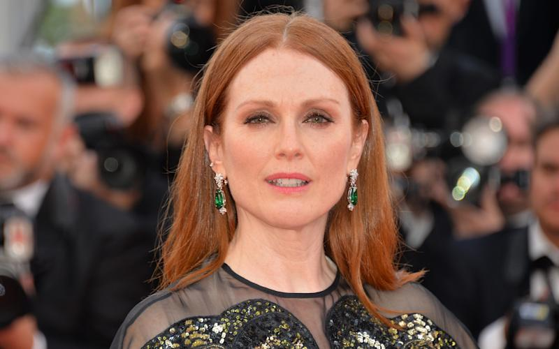 Julianne Moore wearing Zambian emeralds - rather than diamonds - at the Cannes Film Festival in May - 2016 Stephane Cardinale - Corbis