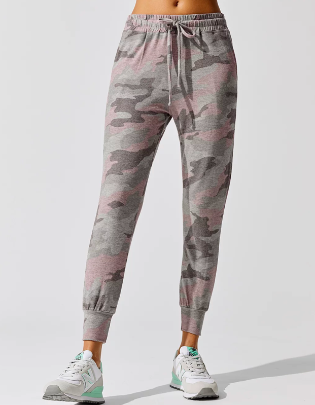 """If you're experiencing tie-dye fatigue, try a camo moment with these drawstring joggers from Carbon38. $145, Carbon38. <a href=""""https://www.carbon38.com/camo-pocket-jogger-pants-grey-pink"""" rel=""""nofollow noopener"""" target=""""_blank"""" data-ylk=""""slk:Get it now!"""" class=""""link rapid-noclick-resp"""">Get it now!</a>"""