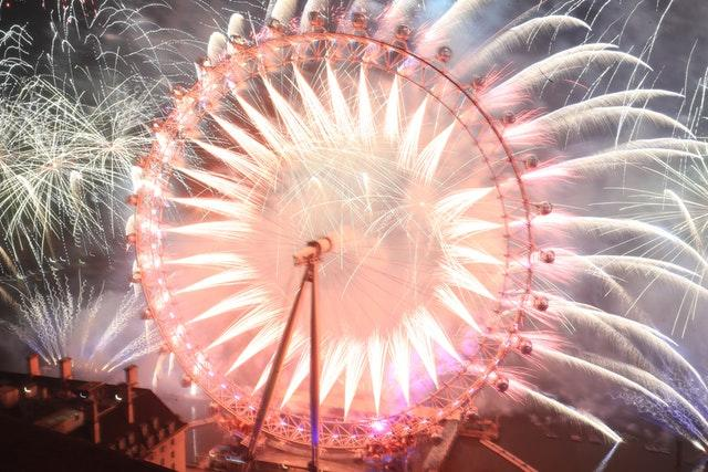 Fireworks on the London Eye (Aaron Chown/PA)