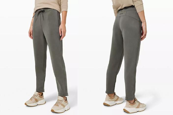 Lululemon's new We Made Too Much markdowns for this week include the Soft Ambitions High-Rise Jogger, currently on sale for $109.