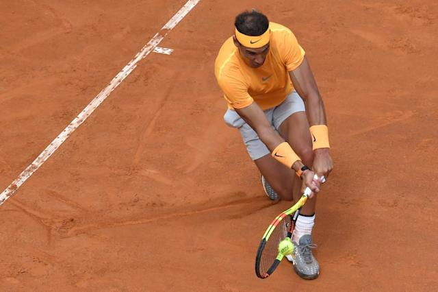 Rafael Nadal crushed Damir Dzumhur to ease into round three (AFP Photo/Andreas SOLARO)