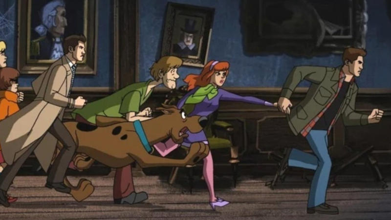 The Winchesters from 'Supernatural' enter the world of 'Scooby-Doo' in 'Scoobynatural'. (Credit: The CW)