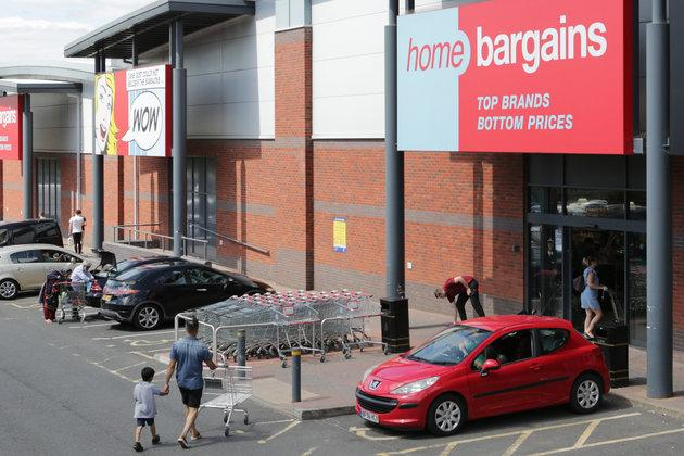 The Home Bargains store in Shrub Hill, Worcester, was the scene of Saturday's suspected acid attack.