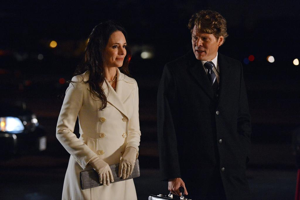 """Does this conversation between Victoria (Madeleine Stowe) and Agent John McGowen (Michael Reilly Burke) signify the beginning of the end of Grayson Global?<br><br>Tune  in to """"Revenge"""" this week to see what happens on the season finale --  and be sure to download our super-cool TV app, IntoNow, and <a href=""""http://www.intonow.com//promo/revenge"""">enter our """"Revenge"""" sweepstakes</a> to win a luxury getaway in the Hamptons."""
