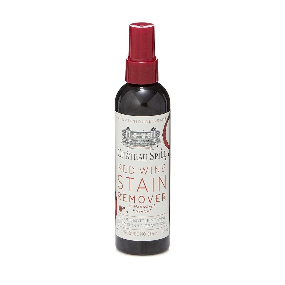 <p>If they tend to spill a lot, the <span>Red Wine Stain Remover</span> ($8) might be just what they need.</p>
