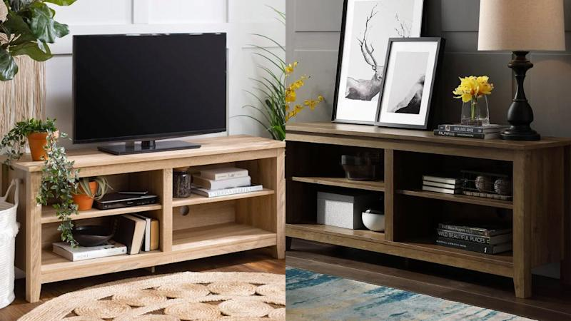 This piece can be used as a TV stand or a console table.