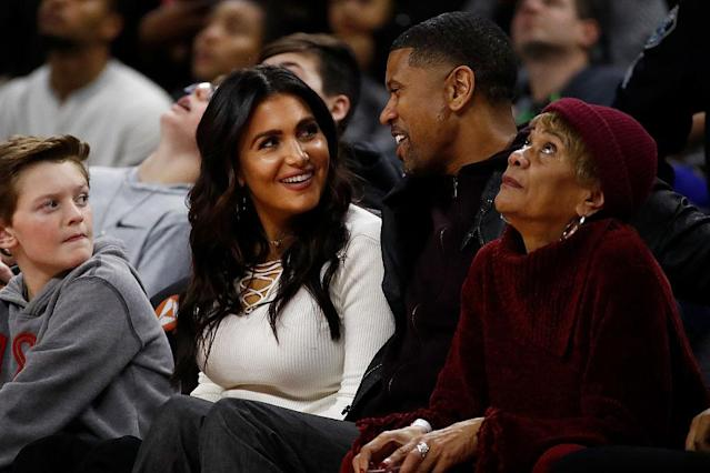 ESPN personalities Molly Qerim and Jalen Rose were spotted at a Warriors-Pistons game in Rose's hometown of Detroit in December 2016. (Getty Images)