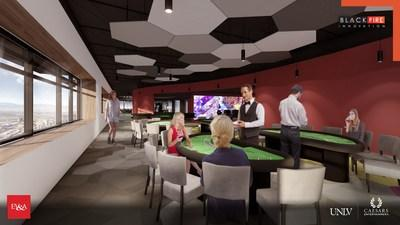 """The 43,000 square-foot """"Black Fire Innovation"""" space, a partnership of UNLV and Caesars Entertainment, will include replicated elements of a Caesars casino and resort to provide real-life conditions for product testing and a place for students to train to enter the workforce of the future."""