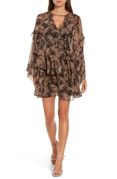 A ruffle mini dress is perfect for a fall wedding but can easily be thrown over some leggings or skinny jeans for a more casual look. Get it at <span>Nordstrom for $89</span>.