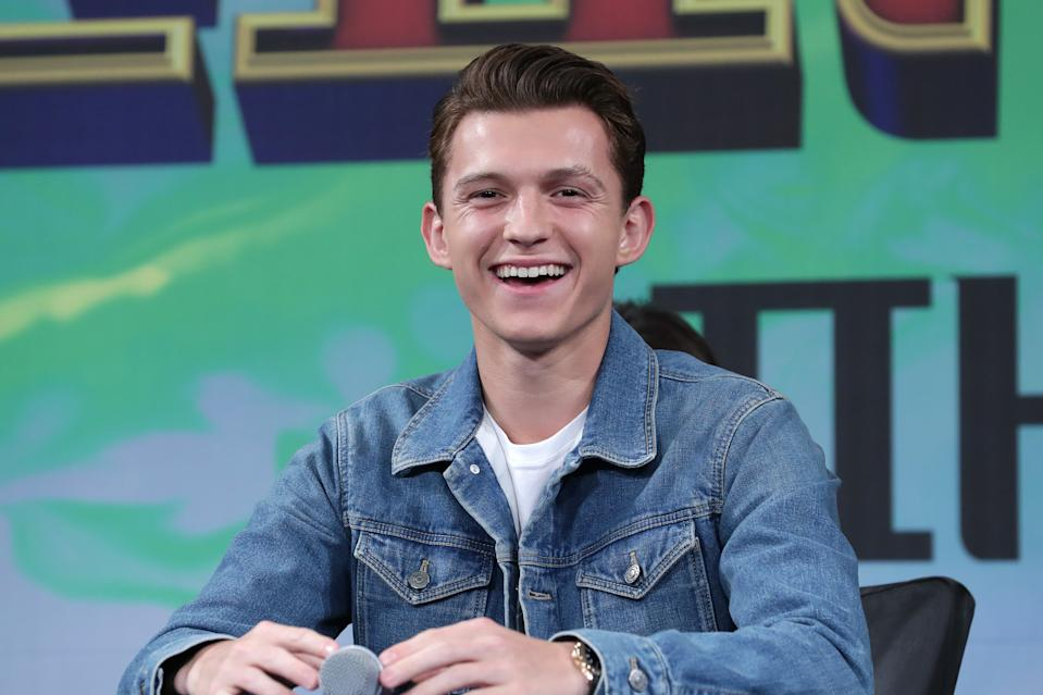 SEOUL, SOUTH KOREA - JULY 01: Actor Tom Holland attends the press conference for 'Spider-Man: Far From Home' Seoul premiere on July 01, 2019 in Seoul, South Korea. (Photo by Han Myung-Gu/WireImage)
