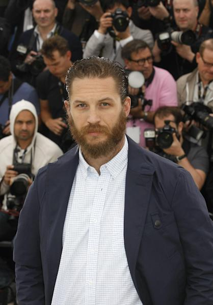 Actor Tom Hardy poses during a photo call for Lawless at the 65th international film festival, in Cannes, southern France, Saturday, May 19, 2012. (AP Photo/Lionel Cironneau)