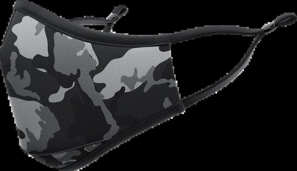 <p>Blend in with this <span>VistaPrint Camo: Black Face Mask</span> ($18).</p>