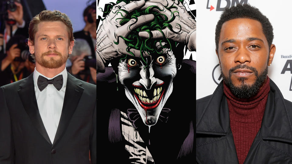 Could Jack O'Connell or Lakeith Stanfield play the Joker on the big screen? (Credit: Marilla Sicilia/Mondadori Portfolio/DC Comics/Dominik Bindl/Getty Images)