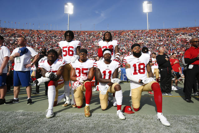 NFL players have been criticized for kneeling and for staying in the locker room during the national anthem.