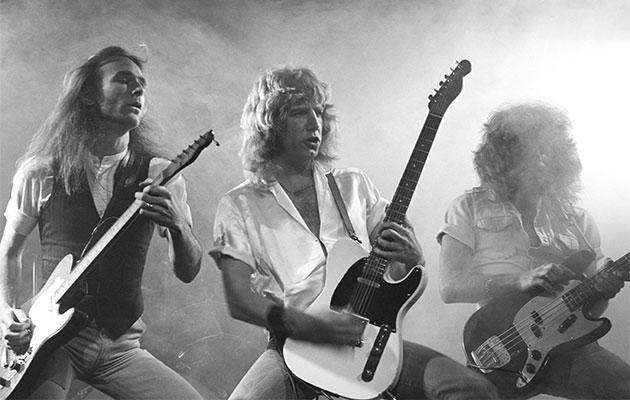 Status Quo's Francis Rossi and Alan Lancaster and Rick Parfitt. Photo: Getty Images