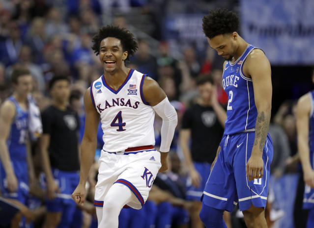 Kansas' Devonte' Graham has been the impetus for the Jayhawks' first Final Four in six years. (AP)