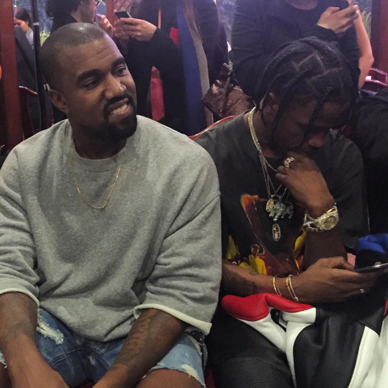 a720690f825e0b Travi  Scott and Kanye West Sat Front Row at Vetements  Spring Summer 2016  Show