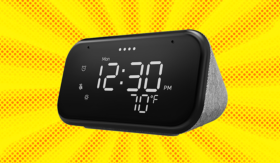 Save 49 percent on this Lenovo Smart Clock Essential. (Photo: Walmart)