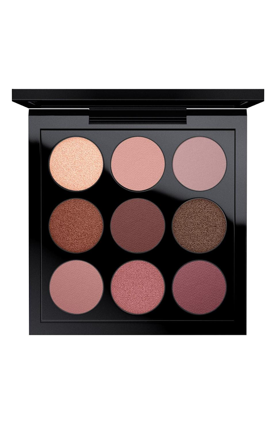 <p>Embrace those fall vibes with a whole palette dedicated to burgundy. This <span>MAC Times Nine Eyeshadow Palette</span> ($32) will take your looks to a whole new level with pigmented mattes and shimmers. It also comes in three other colorways, if burgundy isn't your thing.</p>