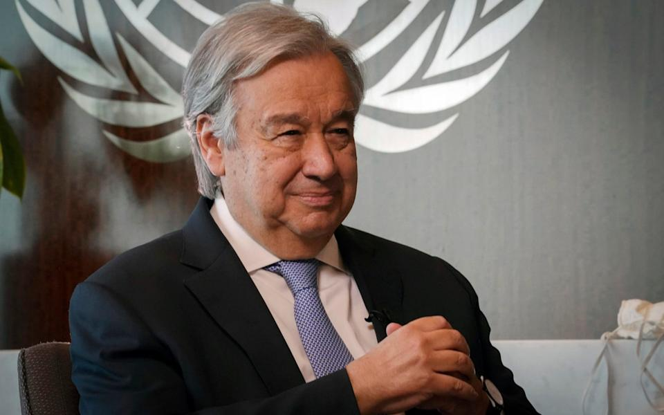 António Guterres, the Secretary-General of the United Nations, pictured at a meeting this week. - Bebeto Matthews/AP Photo