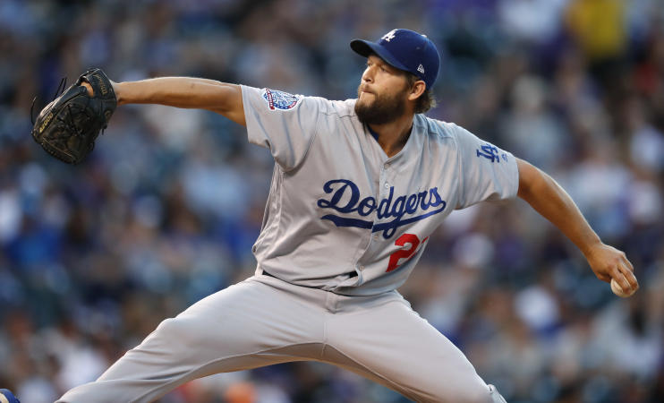 Los Angeles Dodgers ace Clayton Kershaw works came through again in a big game against the Rockies. (AP)