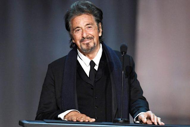 Al Pacino feted Diane Keaton at the American Film Institute's 45th Life Achievement Award. (Photo: Kevin Winter/Getty Images)