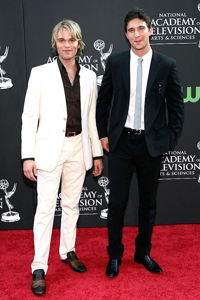 """As the World Turns"" star Van Hansis and his on-screen boyfriend, Jake Silbermann, were a dapper duo. The actors made history in 2007 when they shared the first-ever gay male kiss on daytime TV. Alberto E. Rodriguez/<a href=""http://www.wireimage.com"" target=""new"">WireImage.com</a> - August 31, 2009"