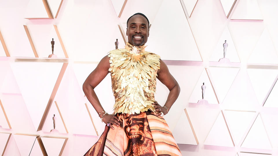 Billy Porter arrives at the Oscars on Sunday, Feb. 9, 2020. (Photo by Jordan Strauss/Invision/AP)