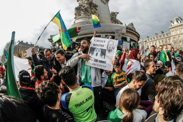 Protests in Algeria which erupted in February forced the resignation of veteran president Abdelaziz Bouteflika within six weeks (AFP Photo/FRANCOIS GUILLOT)