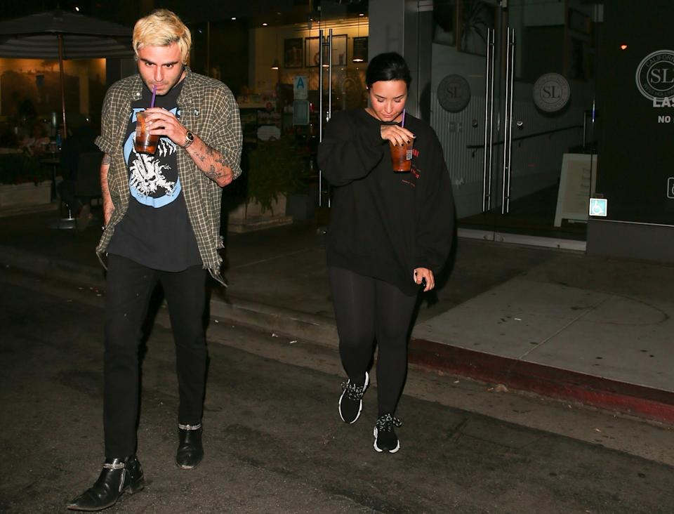 Demi Lovato is spotted with a new man by her side, Henry Levy, after they grabbed drinks together in West Hollywood, Calif. (Photo: Backgrid)