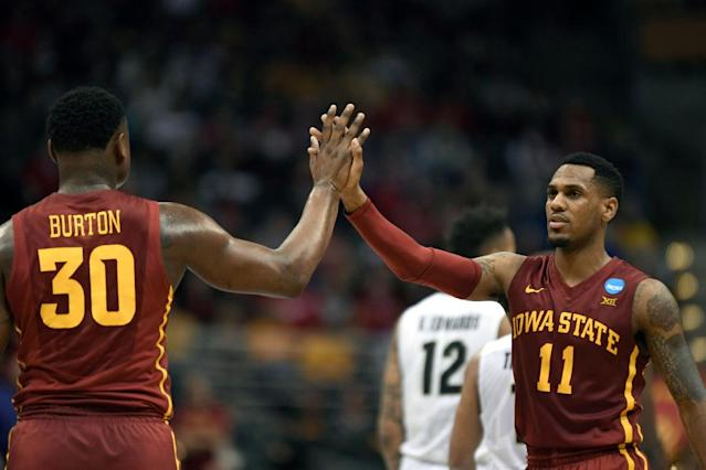 <p><strong>49. Iowa State</strong> <br>Top 2017-18 sport: men's cross country. Trajectory: Up. The Cyclones slid from 38th to 64th between 2014-16, and have been incrementally rebuilding since. They finished 59th last year and 56th this year. The big surprise: an ongoing downturn in wrestling, a bedrock sport. </p>