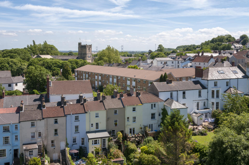 Town Houses In Chepstow, Wales, United Kingdom