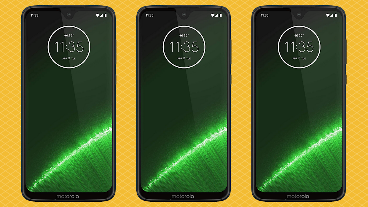 The Moto G7 Plus is 40 percent off — down to a mere $150. (Photo: Amazon)