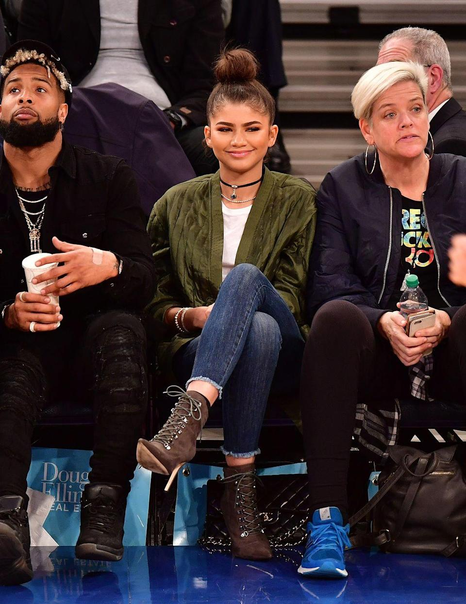 <p>A lace-up bootie really elongates the legs, making them seem miles long. Anything to get Zendaya's legs, am I right?!</p>