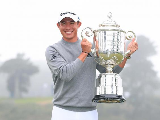 Collin Morikawa celebrates winning the PGA Championship to clinch his first major title (Getty)