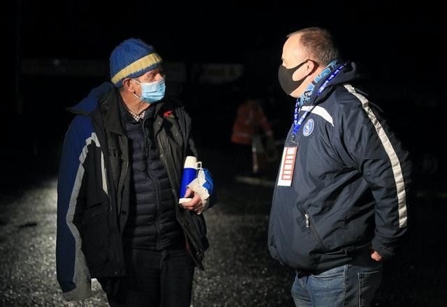 Wycombe fan John Jones (left) admitted life had not been the same without life football